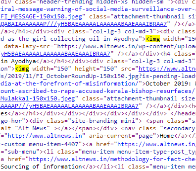 Page Source HTML: Identify the relevant tags to scrape